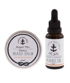 The Brighton Beard Co-Beard Balm & Oil Mandarin And Cedarwood Zestaw Brodacza