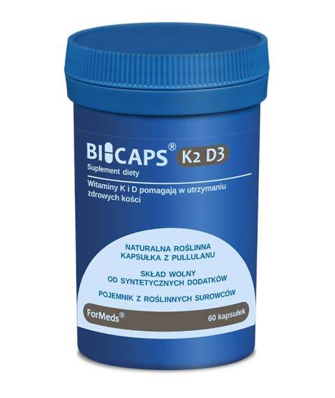 ForMeds-BICAPS K2 D3 Suplement Diety z Wit. K2 i D3 60 kapsułek