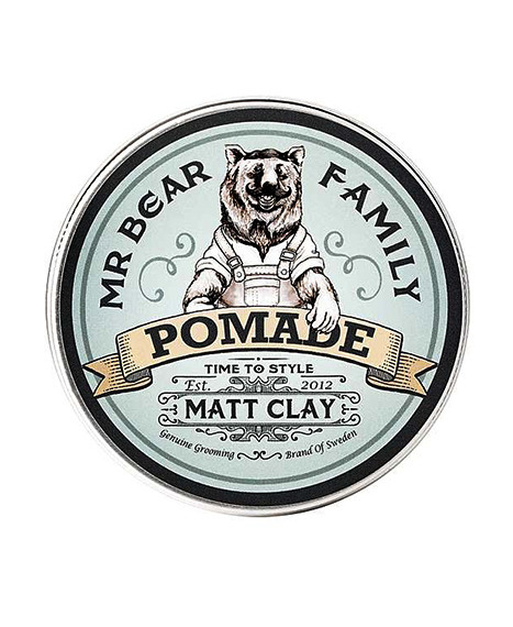 Mr Bear-Pomade Matt Clay Pomada 100ml