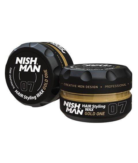 Nishman-07 Hair Styling Wax Gold One Pomada do Włosów 150 ml