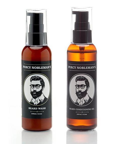 Percy Nobleman-Beard Oil & Shampoo Kit Zestaw Brodacza
