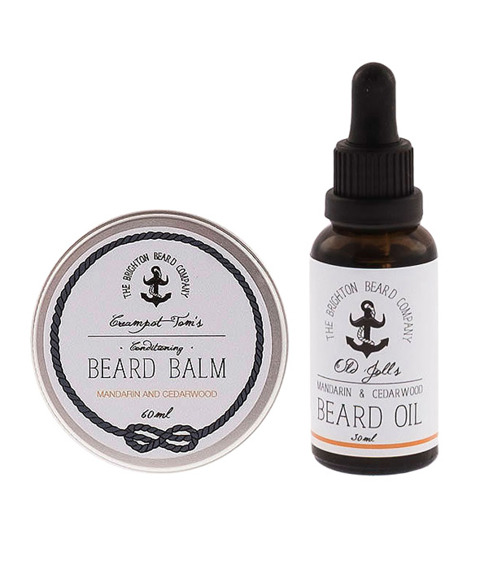 The Brighton Beard Co-Beard Balm & Oil Mandarin And Cedarwood Zestaw Brodacza